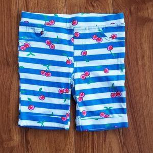 Striped Cherry Capri Pants NWOT